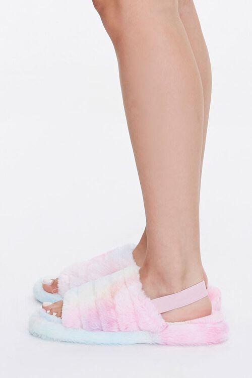 Faux Fur Open Toe Slippers, image 2
