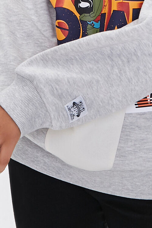 HEATHER GREY/MULTI Reworked Space Jam Pullover, image 5