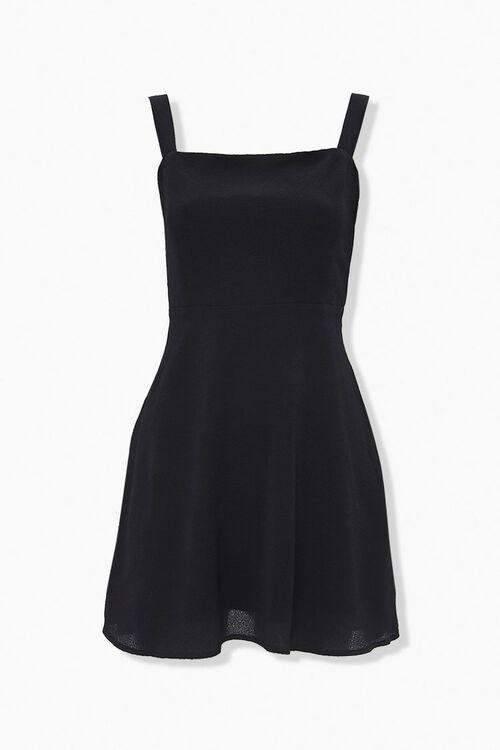 Textured Shoulder-Strap Mini Dress, image 1