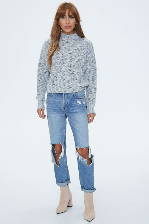 Marled Mock Neck Sweater, image 4
