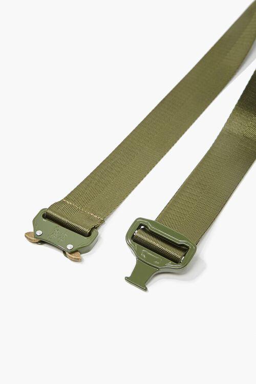 Men Grosgrain Metal-Buckle Belt, image 5