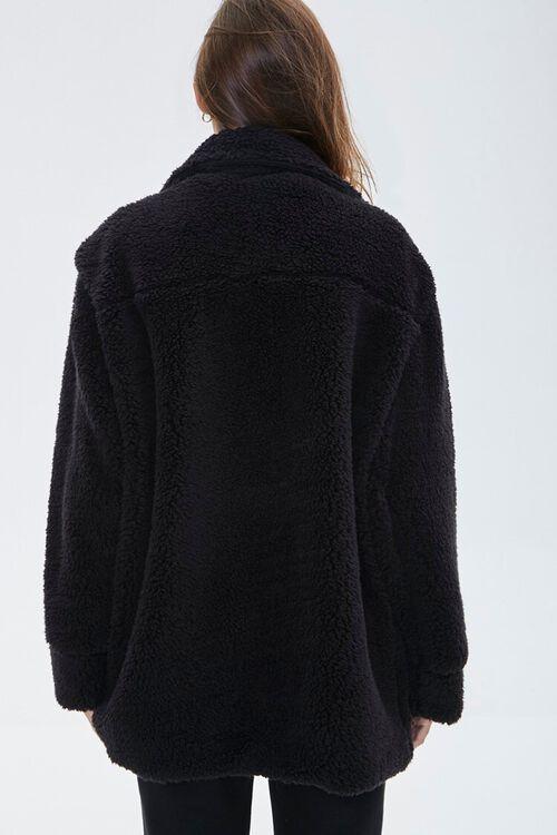 Faux Shearling Drop-Sleeve Jacket, image 3