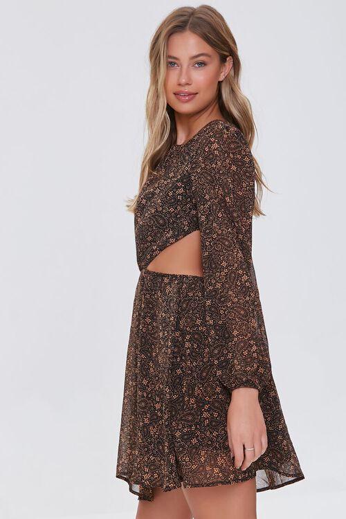 Paisley Cutout Mini Dress, image 2