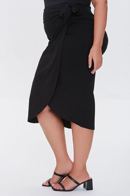 Plus Size Tulip-Hem Skirt, image 3