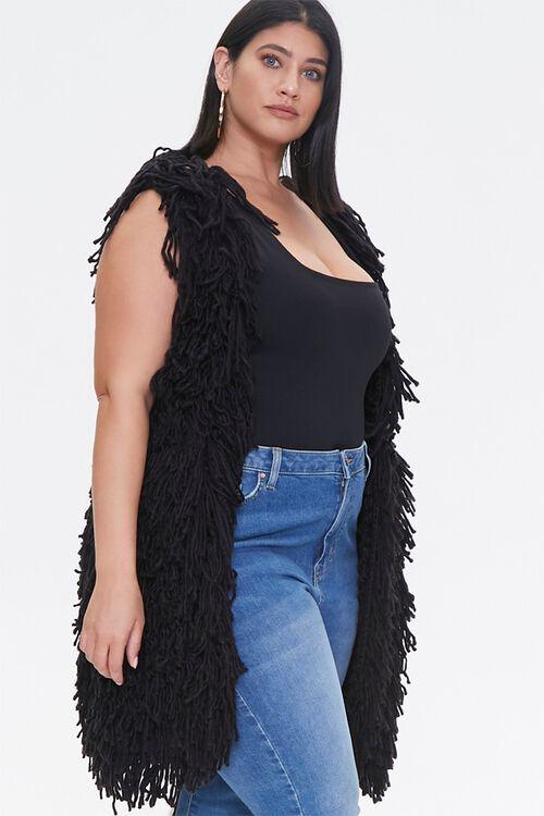 Plus Size Corded Longline Vest, image 2
