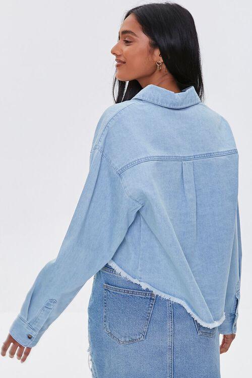 Frayed High-Low Denim Shirt, image 4