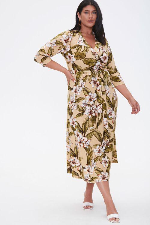 Plus Size Tropical Floral Dress, image 1