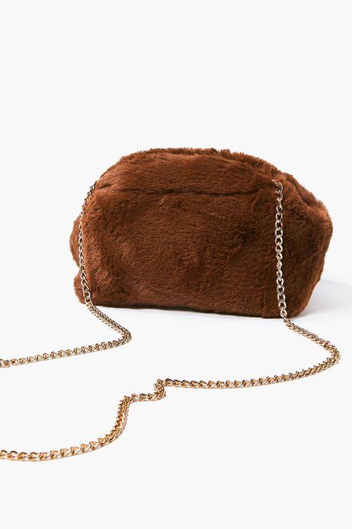 Plush Curb-Chain Shoulder Bag, image 4