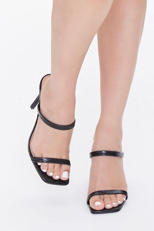 Faux Croc Slip-On Heels, image 4