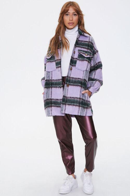 Brushed Plaid Flap-Pocket Coat, image 4