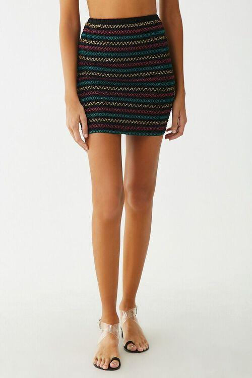 Embroidered Mini Skirt, image 2