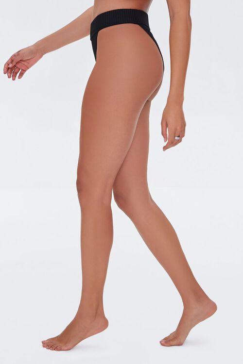 Ribbed High-Waist Bikini Bottoms, image 4