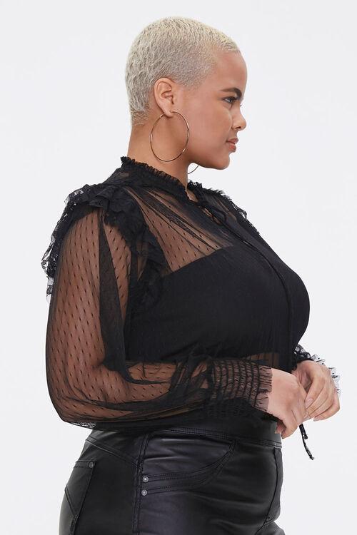 Plus Size Sheer Mesh Bodysuit, image 2