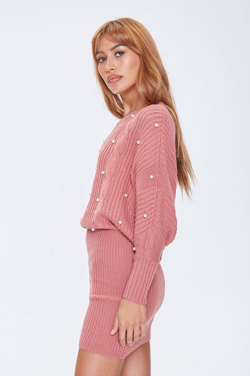 ROSE Faux Pearl Sweater Dress, image 2