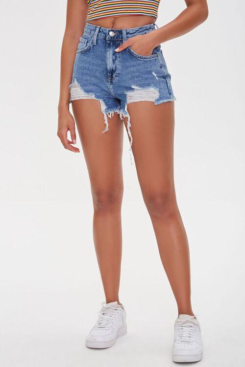 Distressed Retro High-Rise Shorts, image 2