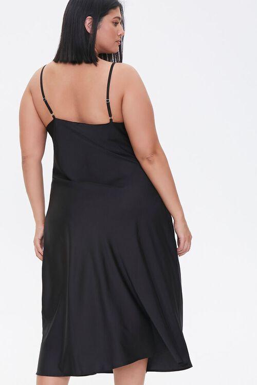 Plus Size Satin Midi Slip Dress, image 4