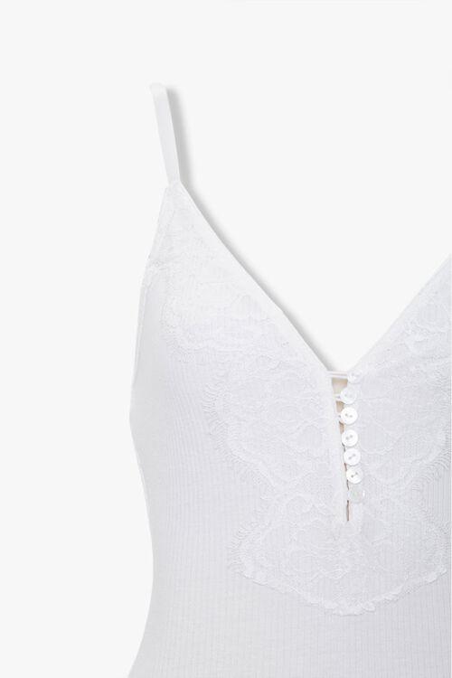 Ribbed Eyelash Lace Bodysuit, image 3