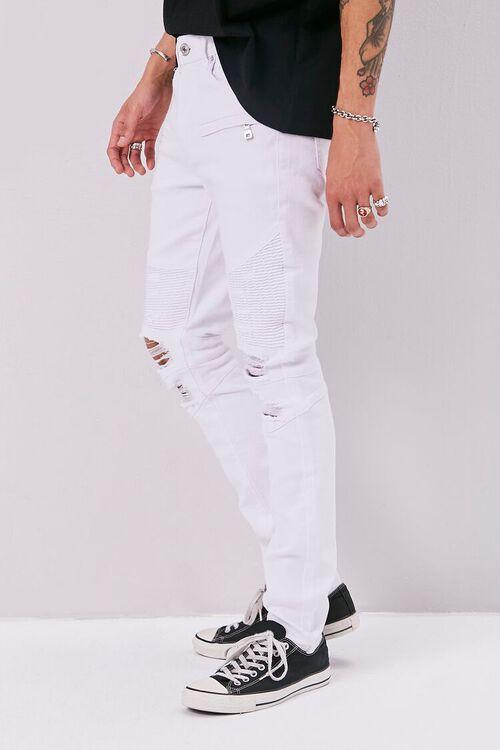 Distressed Moto Skinny Jeans, image 3