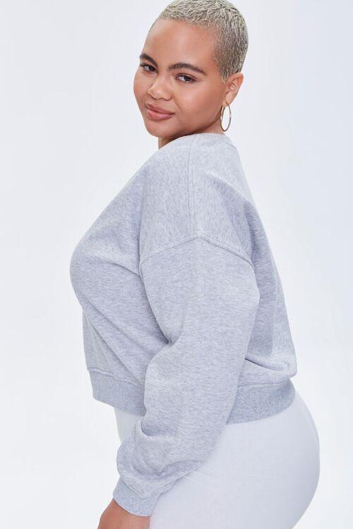 Plus Size Split-Neck Sweatshirt, image 2