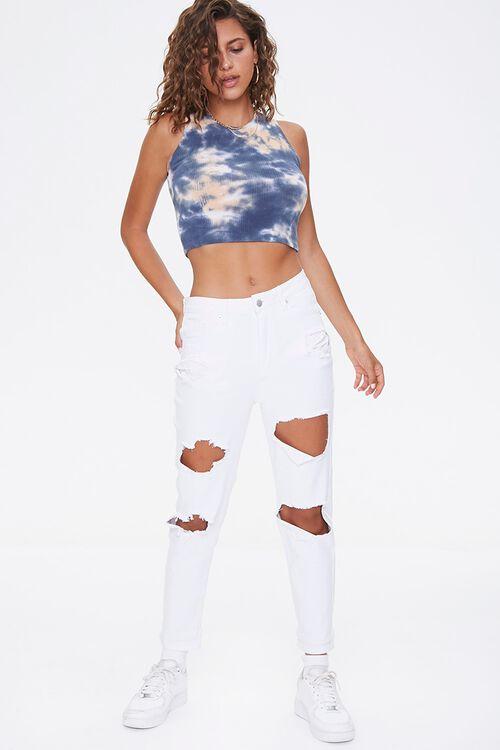 WHITE High-Rise Boyfriend Jeans, image 1