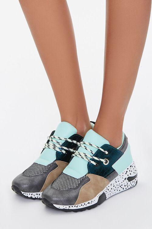 Paneled Low-Top Sneakers, image 1