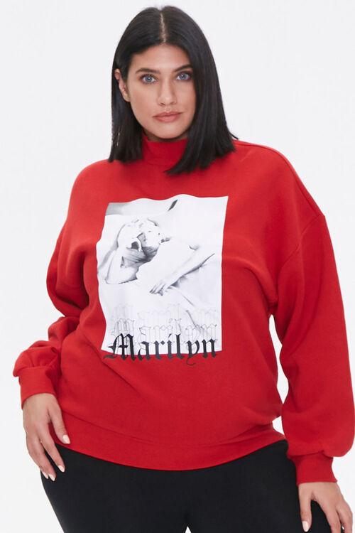 Plus Size Marilyn Monroe Sweatshirt, image 1