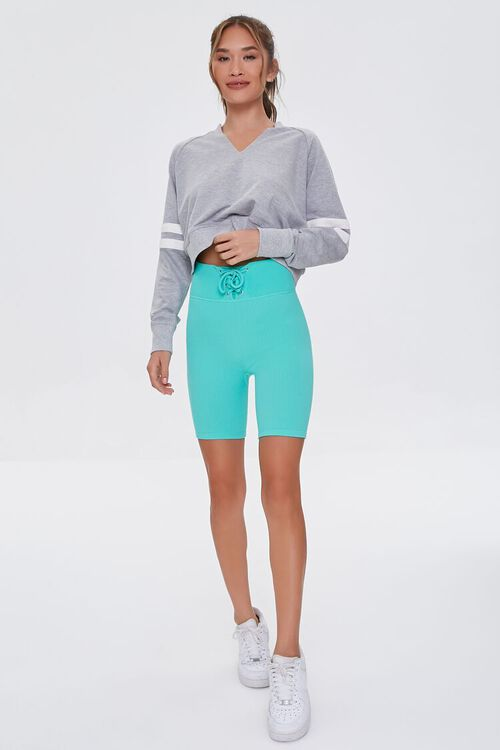 Active Seamless Lace-Up Shorts, image 5