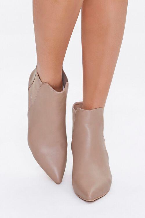 Faux Leather Stiletto Chelsea Boots, image 4