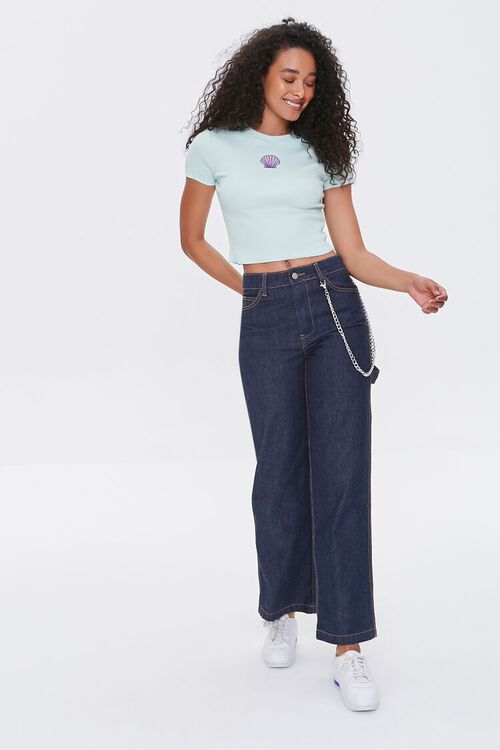 Shell Patch Cropped Tee, image 4