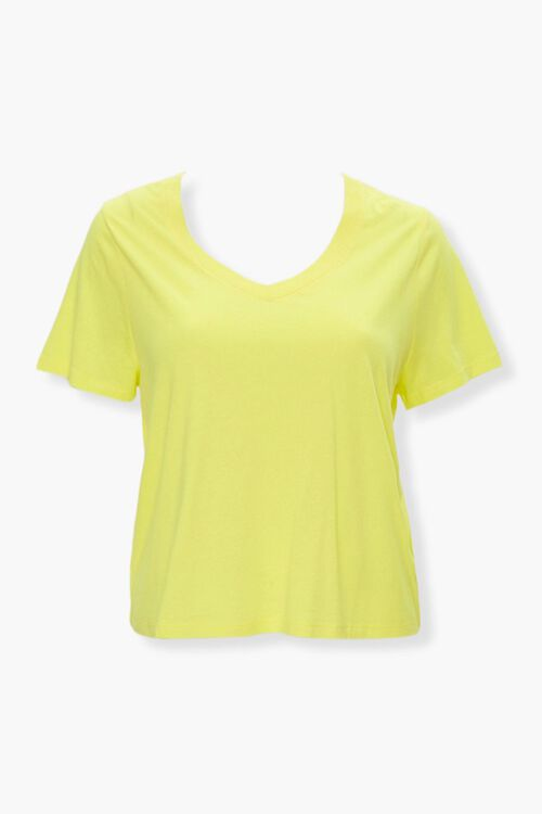 Plus Size Relaxed V-Neck Tee, image 1