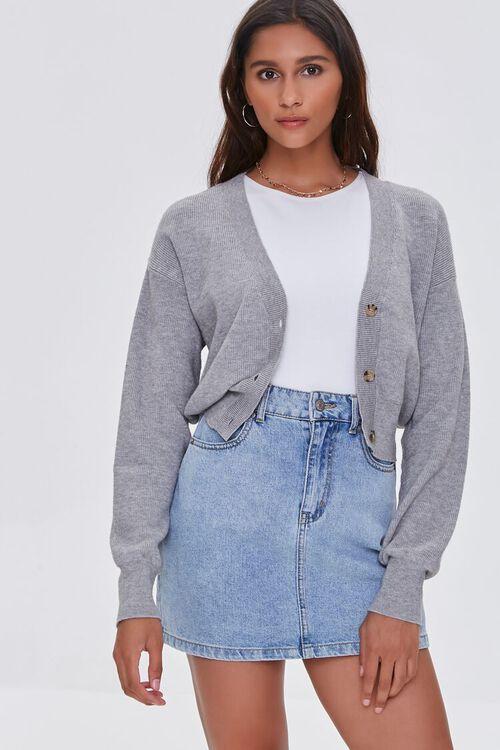 Ribbed Knit Cardigan Sweater, image 1