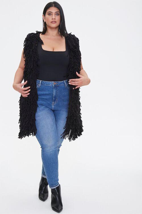 Plus Size Corded Longline Vest, image 4