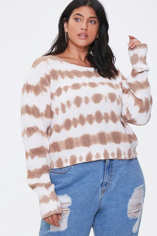 Plus Size Tie-Dye Sweater, image 1