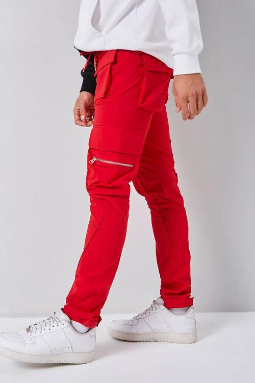 Dual-Cargo Pocket Drawstring Pants, image 2