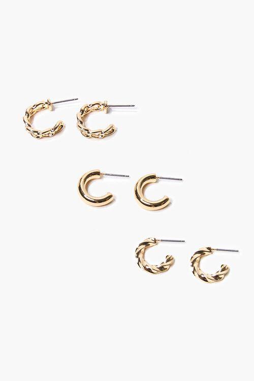 Curb Chain Hoop Earring Set, image 1