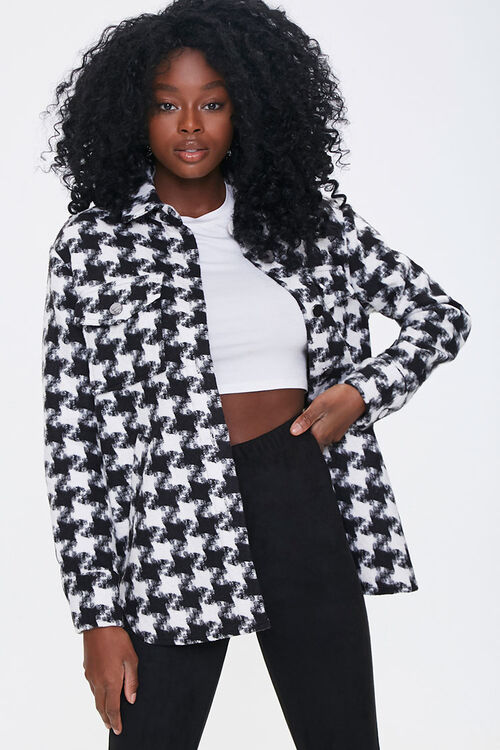 Houndstooth Button-Front Jacket, image 1