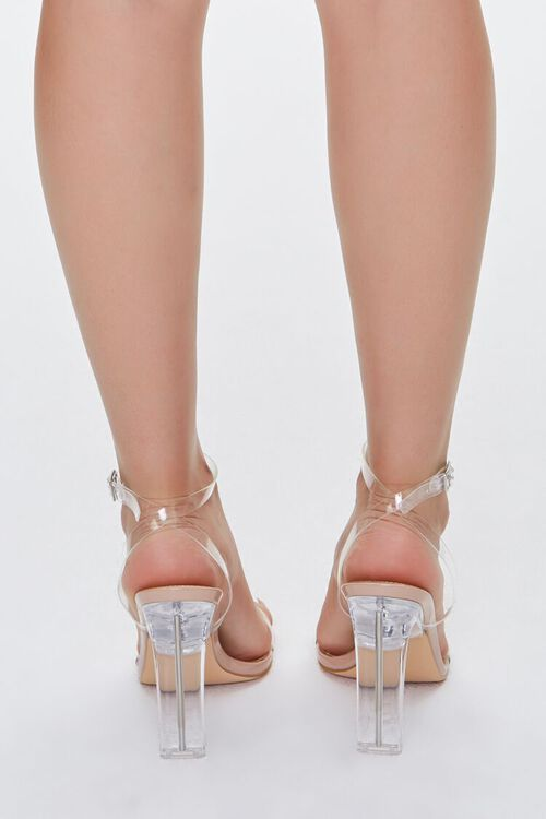 NUDE/CLEAR Clear Ankle-Strap Lucite Heels, image 3