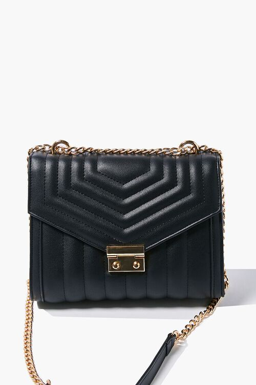 Quilted Flap-Top Crossbody Bag, image 1