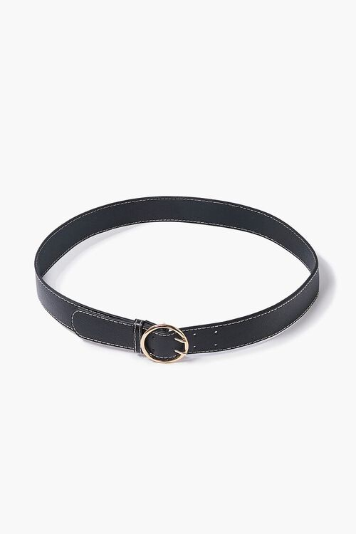 Textured Faux Leather Belt, image 1