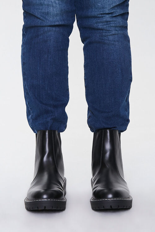 Faux Leather Chelsea Boots (Wide), image 2