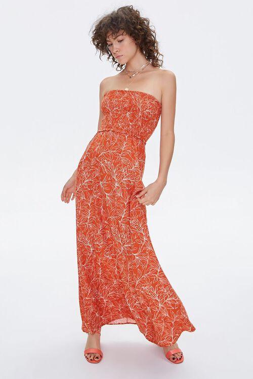 Tropical Print Maxi Tube Dress, image 4