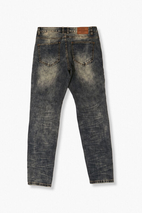 Faded Slim-Fit Moto Jeans, image 2