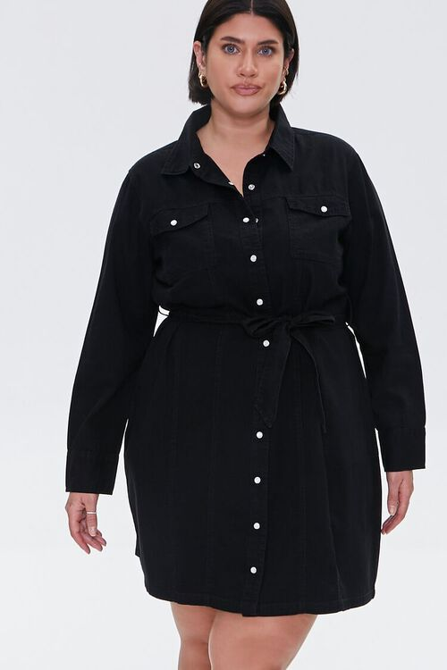 Plus Size Denim Shirt Dress, image 4