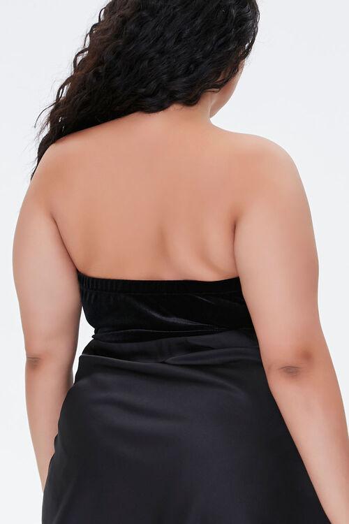 Plus Size Rhinestone Fringe Bodysuit, image 3