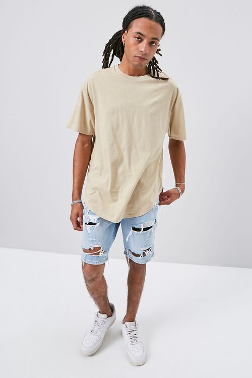 Scoop-Hem Crew Neck Tee, image 4
