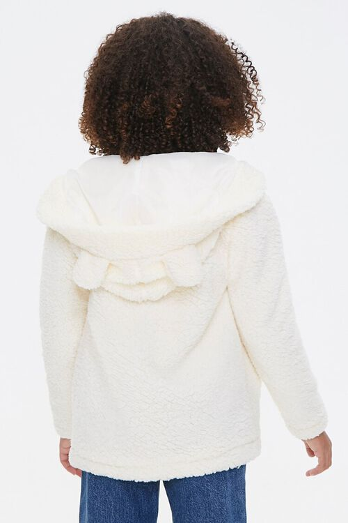 Girls Faux Shearling Zip-Up Hoodie (Kids), image 3