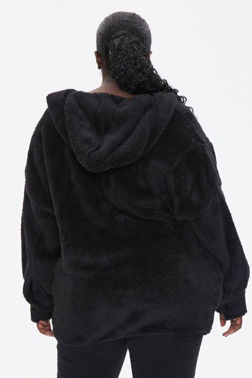 Plus Size Hooded Faux Fur Coat, image 3