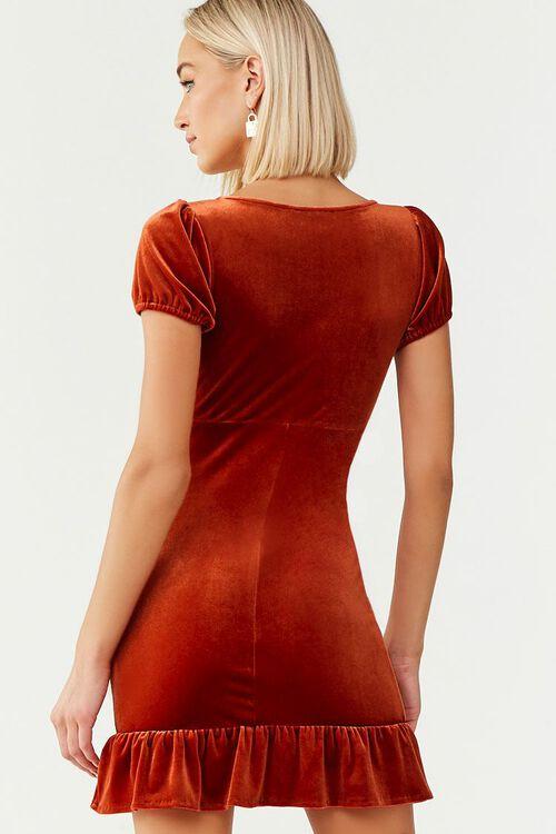 Velvet Short Sleeve Mini Dress, image 3