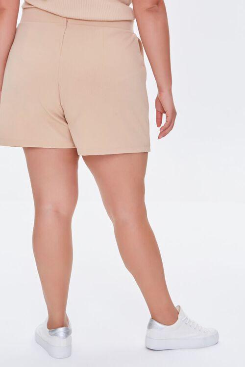Plus Size Faux Wrap Skort, image 4