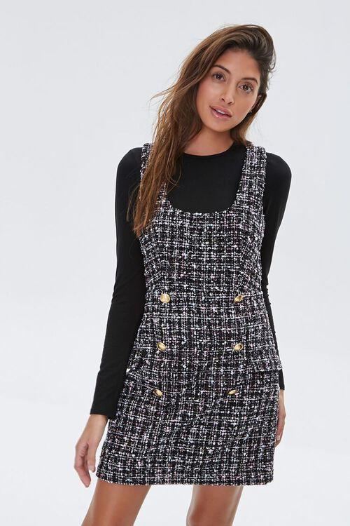 Tweed Pinafore Dress, image 1
